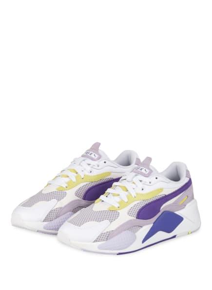 PUMA Plateau-Sneaker RS-X, Farbe: WEISS/ LILA/ HELLGRÜN (Bild 1)