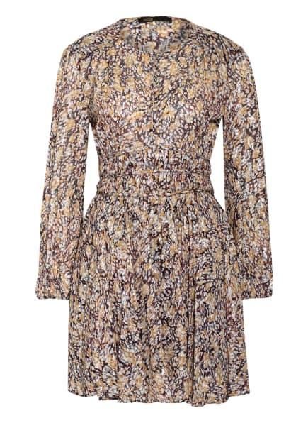 maje Kleid RIBBIA mit Glitzergarn, Farbe: SCHWARZ/ DUNKELROT/ SILBER (Bild 1)