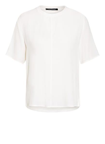 LUISA CERANO Blusenshirt im Materialmix, Farbe: WEISS (Bild 1)
