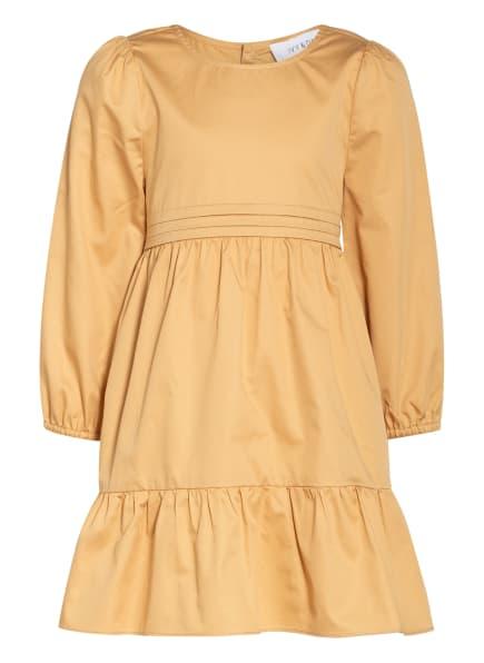 IVY & OAK Kleid mit Volantbesatz, Farbe: CAMEL/ GOLD (Bild 1)