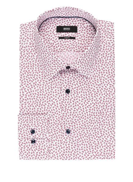 BOSS Hemd JANO Slim Fit, Farbe: WEISS/ DUNKELROT/ SCHWARZ (Bild 1)