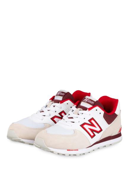 new balance Sneaker, Farbe: WEISS/ DUNKELROT/ CREME (Bild 1)