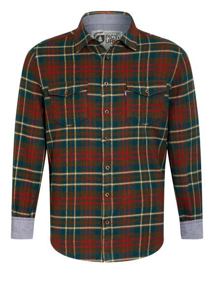 PICTURE Flanellhemd HILLSBORO Comfort Fit, Farbe: OLIV/ ROT/ PETROL (Bild 1)