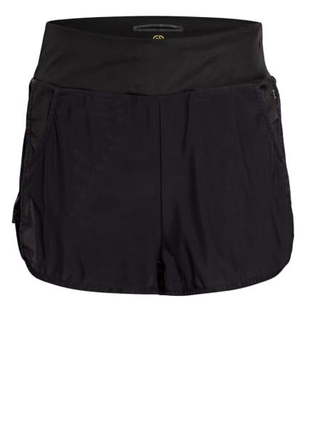 GOLDBERGH 2-in-1-Shorts ZILKE mit Mesh-Besatz, Farbe: SCHWARZ (Bild 1)