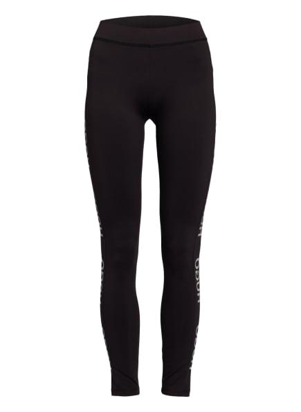 HUGO Leggings NEFLECTIVE mit Galonstreifen, Farbe: SCHWARZ/ SILBER (Bild 1)