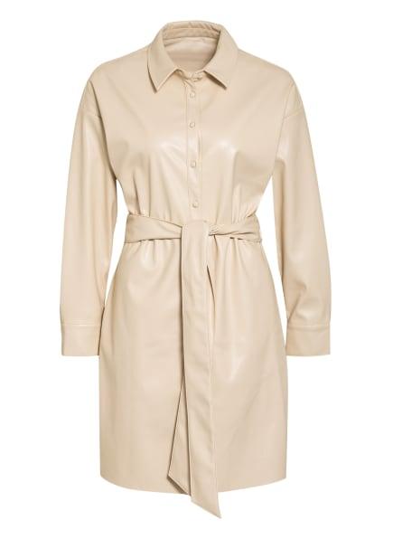 Mrs & HUGS Kleid in Lederoptik, Farbe: CREME (Bild 1)