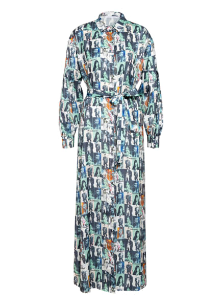 PATRIZIA PEPE Hemdblusenkleid , Farbe: WEISS/ GRÜN/ BLAU (Bild 1)