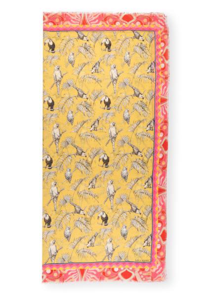 MALA ALISHA Tuch PATCH mit Leinen , Farbe: GELB/ SCHWARZ/ WEISS (Bild 1)