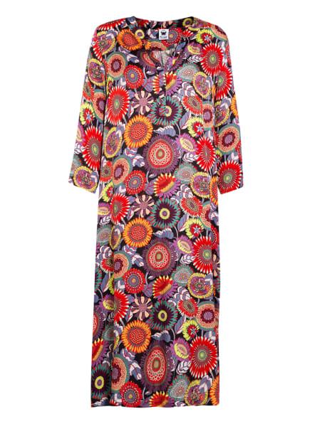 floer Kleid mit 3/4-Arm, Farbe: SCHWARZ/ ROT/ BLAUGRAU (Bild 1)