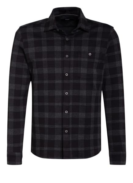 mavi Flanellhemd Regular Fit, Farbe: SCHWARZ/ GRAU (Bild 1)