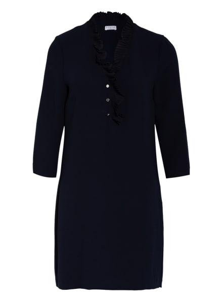 CLAUDIE PIERLOT Kleid ROULIE mit Rüschenbesatz, Farbe: DUNKELBLAU (Bild 1)