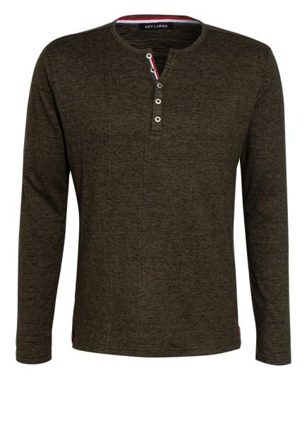 KEY LARGO Henley-Shirt NILS, Farbe: GRÜN/ SCHWARZ (Bild 1)