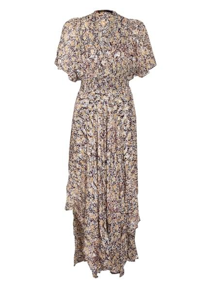 maje Kleid RACHELLE mit Glitzergarn, Farbe: SCHWARZ/ DUNKELROT/ SILBER (Bild 1)