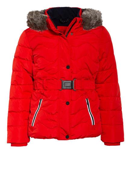 s.Oliver RED Jacke mit abnehmbarer Kapuze und Kunstfellbesatz, Farbe: ROT (Bild 1)
