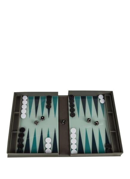 PRINTWORKS Brettspiel CLASSIC BACKGAMMON, Farbe: DUNKELGRAU/ GRÜN/ SCHWARZ (Bild 1)