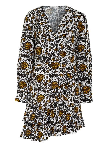 sandro Kleid , Farbe: WEISS/ SCHWARZ/ HELLORANGE (Bild 1)