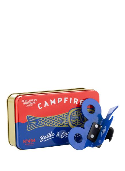 GENTLEMEN'S HARDWARE Flaschen- und Dosenöffner CAMPFIRE, Farbe: BLAU (Bild 1)