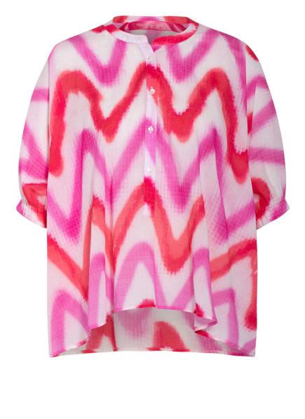 yippie hippie Blusenshirt, Farbe: WEISS/ ROT/ PINK (Bild 1)