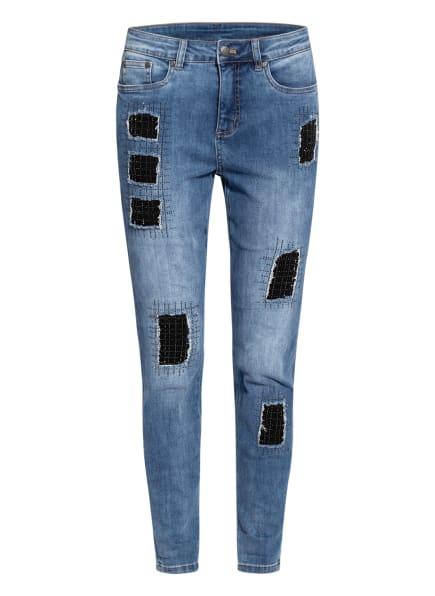 Joseph Ribkoff Destroyed Jeans mit Schmucksteinbesatz , Farbe: 14 BLAU (Bild 1)