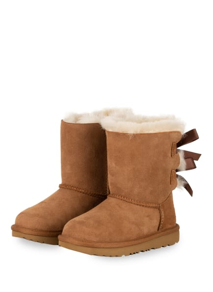 UGG Boots BAILEY BOW II, Farbe: CAMEL/ CREME (Bild 1)