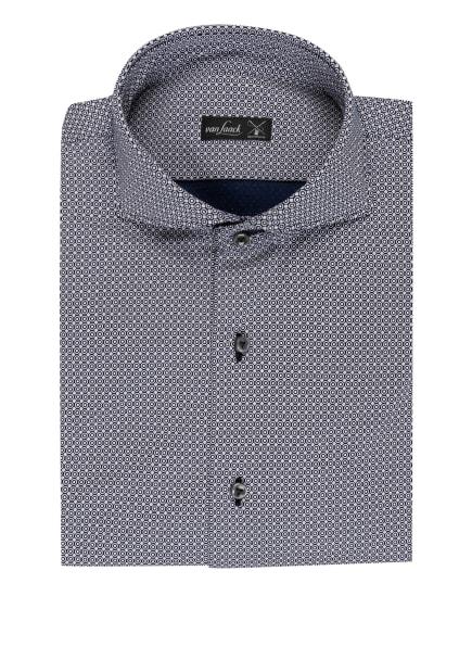 van Laack Jerseyhemd PER Tailor Fit, Farbe: WEISS/ DUNKELBLAU (Bild 1)