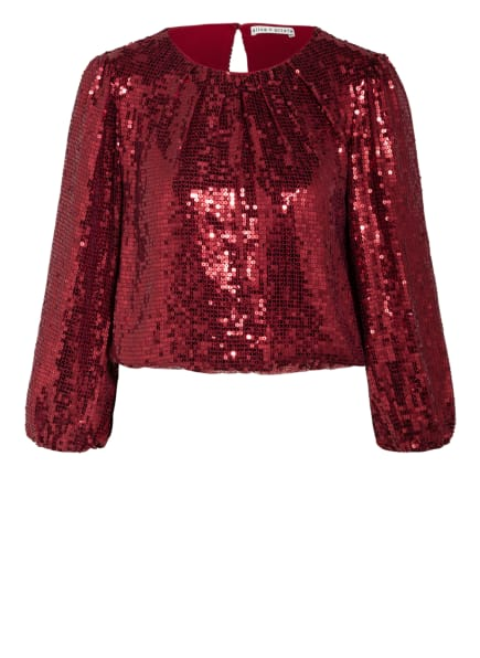 alice+olivia Shirt AVILA mit 3/4-Arm und Paillettenbesatz, Farbe: DUNKELROT (Bild 1)