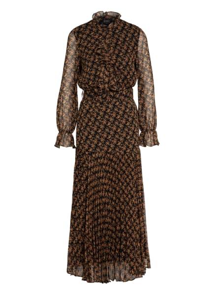 BARDOT Kleid DALLAS, Farbe: SCHWARZ/ ORANGE/ GRÜN (Bild 1)