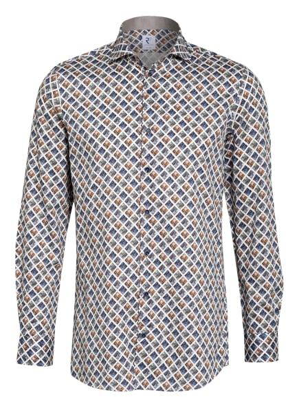 R2 Amsterdam Hemd Modern Fit , Farbe: WEISS/ BLAU/ TAUPE (Bild 1)