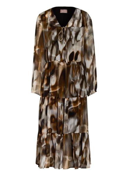 CARTOON Kleid mit Volantbesatz, Farbe: CREME/ GRAU/ BRAUN (Bild 1)