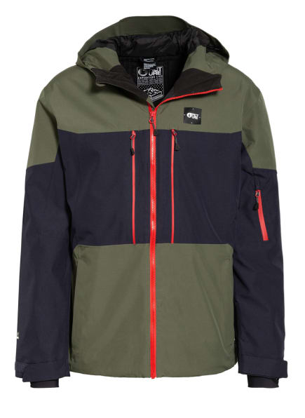 PICTURE Skijacke OBJECT, Farbe: OLIV/ DUNKELBLAU (Bild 1)
