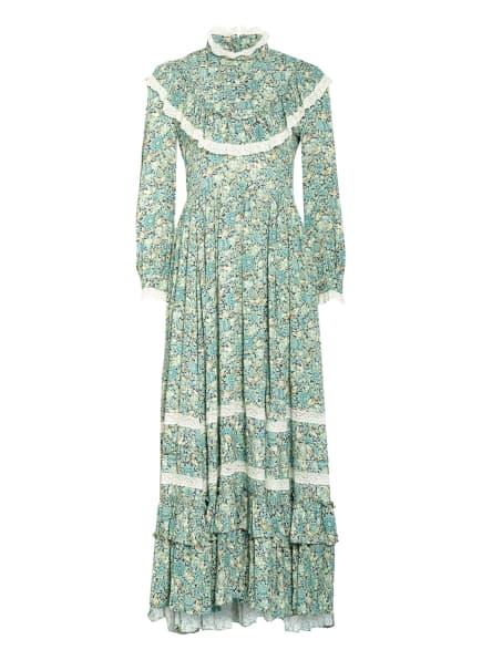 GUCCI Kleid mit Volants, Farbe: TÜRKIS/ PETROL/ GRÜN (Bild 1)