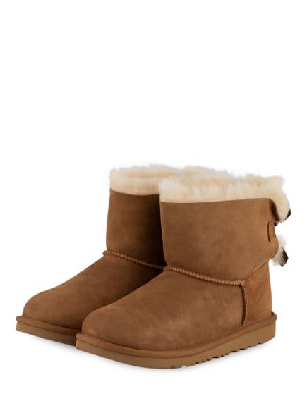 UGG Boots MINI BAILEY BOW, Farbe: COGNAC (Bild 1)