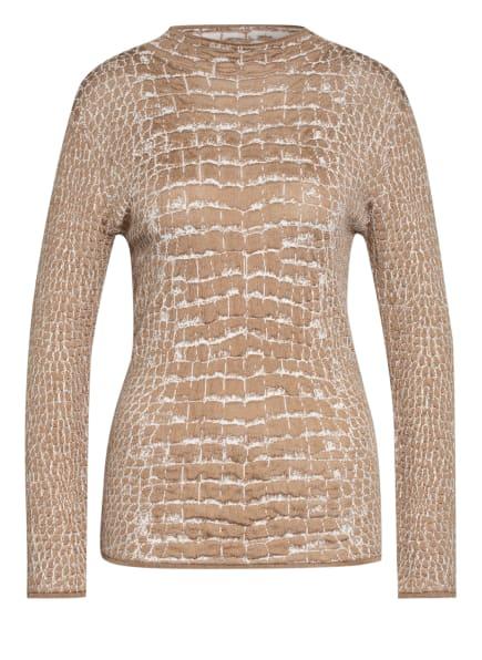 BOSS Pullover FABRICIA, Farbe: BEIGE/ WEISS (Bild 1)