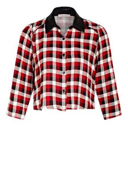 RINASCIMENTO Cropped-Blusenshirt, Farbe: ROT/ WEISS/ SCHWARZ (Bild 1)