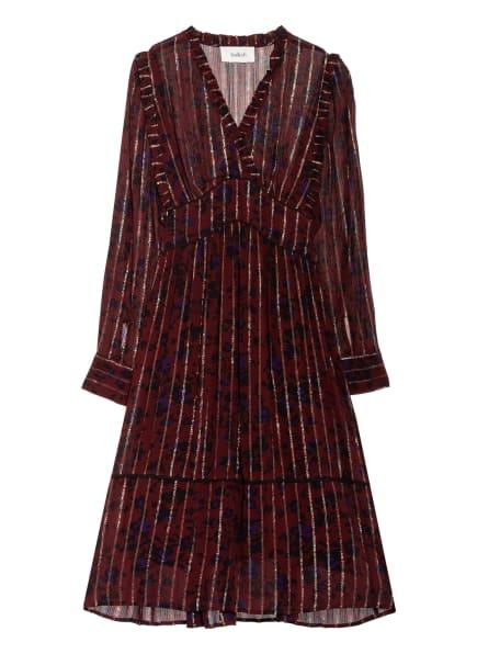 ba&sh Kleid PATSTY mit Rüschenbesatz, Farbe: DUNKELROT/ DUNKELBLAU (Bild 1)
