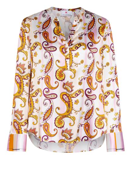 HERZEN'S ANGELEGENHEIT Blusenshirt aus Seide, Farbe: WEISS/ HELLROSA/ GELB (Bild 1)