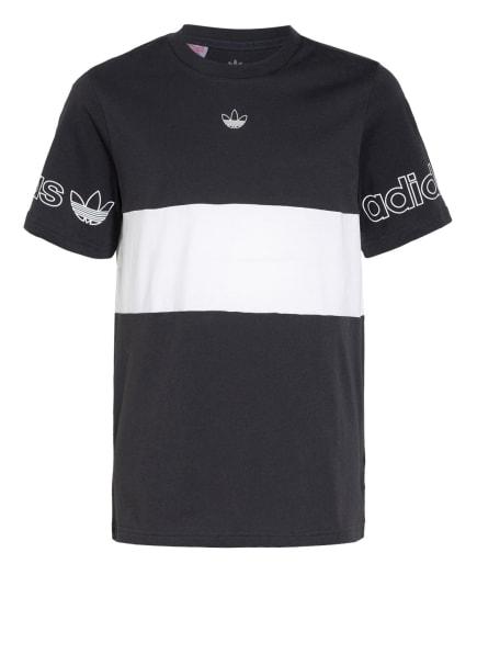 adidas Originals T-Shirt, Farbe: DUNKELGRAU/ WEISS (Bild 1)