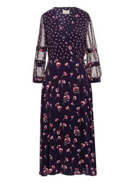 Phase Eight Kleid in Wickeloptik mit 3/4-Arm , Farbe: DUNKELBLAU/ ROSA/ DUNKELROT (Bild 1)
