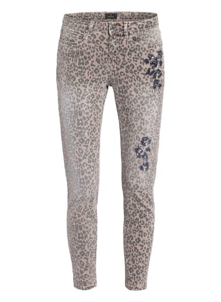 monari 7/8-Jeans mit Paillettenbesatz, Farbe: TAUPE/ GRAU (Bild 1)
