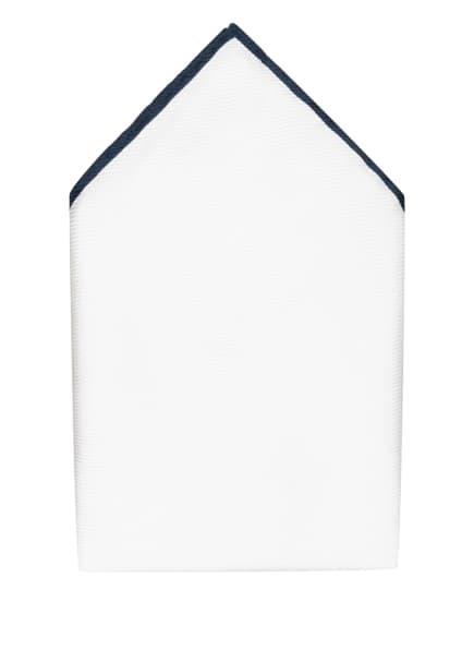 REISS Einstecktuch MOON, Farbe: WEISS/ DUNKELBLAU (Bild 1)