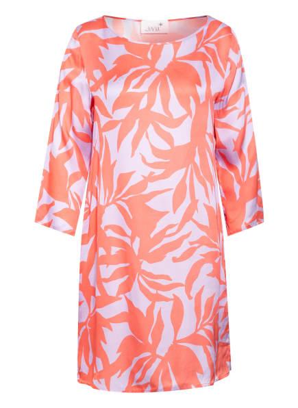 Juvia Kleid mit 3/4-Arm, Farbe: LILA/ HELLROT (Bild 1)