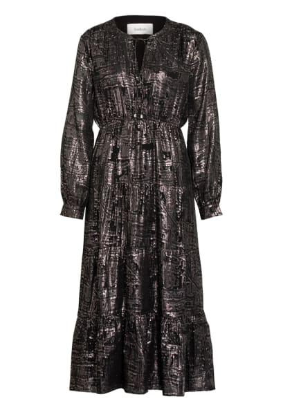 ba&sh Kleid SOPHIE mit Seide, Farbe: SILBER/ SCHWARZ (Bild 1)