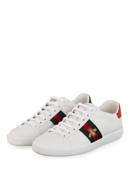 GUCCI Sneaker ACE, Farbe: 9064 BIA/VRV/R.FLAME/VERD (Bild 1)