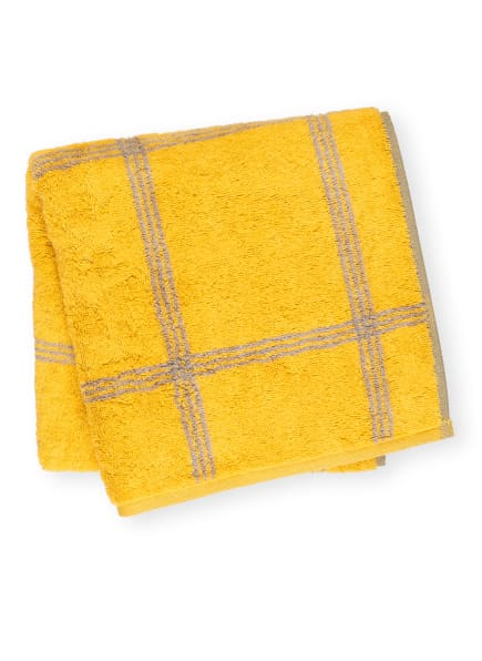 Cawö Handtuch LUXURY HOME, Farbe: GELB/ GRAU (Bild 1)
