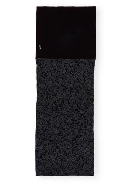 P.A.C. Multifunktionstuch MERINO FLEECE aus Merinowolle, Farbe: SCHWARZ/ GRAU (Bild 1)