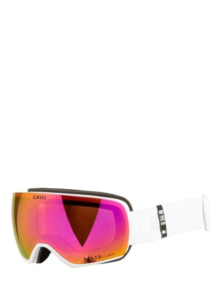 GIRO Skibrille LUSI , Farbe: 030 white flake vivid pink (Bild 1)