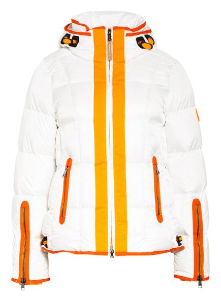 BOGNER Daunen-Skijacke GIANA, Farbe: WEISS/ ORANGE (Bild 1)