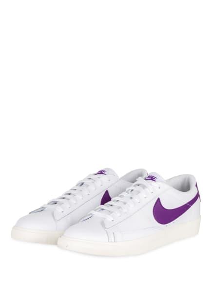 Nike Sneaker BLAZER LOW, Farbe: WEISS/ LILA (Bild 1)