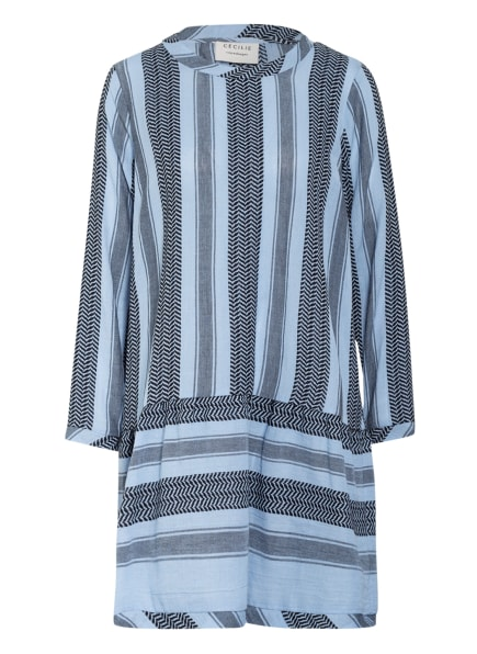 CECILIE COPENHAGEN Kleid, Farbe: HELLBLAU/ SCHWARZ (Bild 1)