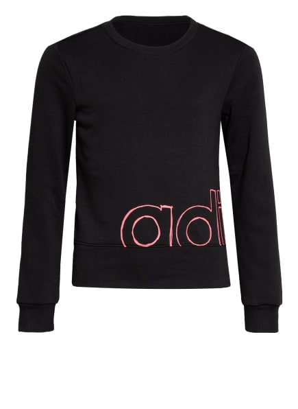 adidas Sweatshirt LOGO CREW , Farbe: SCHWARZ/ PINK (Bild 1)